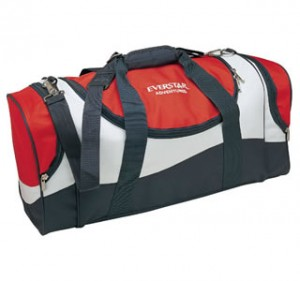 tri colour sports bag